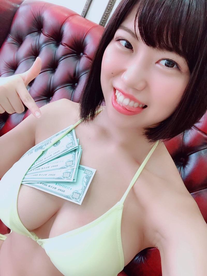 【麻亜子エロ画像】寄せたHカップ爆乳にチンコを突っ込んでパイズリ狭射したくなるグラビアアイドル 40