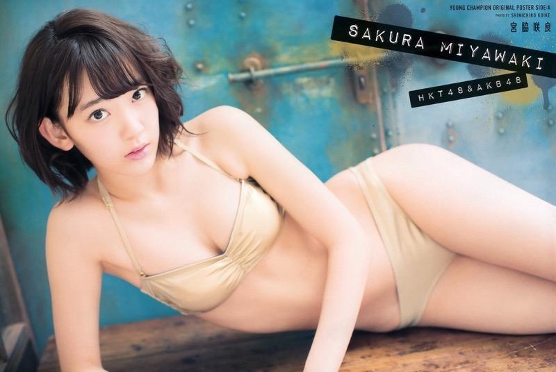 【宮脇咲良グラビア画像】透明感のある美肌がキレイな美少女系AKB48アイドルのエッチなビキニ姿 04