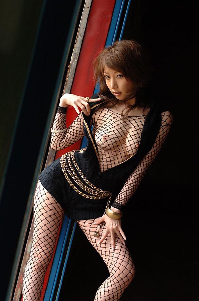 【ランジェリーエロ画像】網タイツが似合っているセクシーな美女達に俺のムスコが大悦びwwww 47