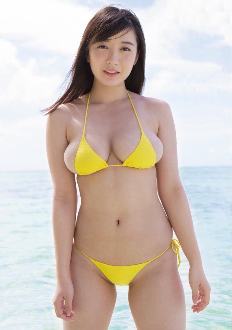 【紺野栞エロ画像】Hカップ爆乳が売りのグラビアアイドルがカップ数を縮める手術を受けるってマジかwwww 58
