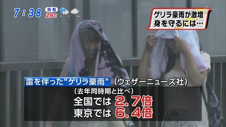 【台風エロ画像】容赦なく襲ってくる強風や豪雨に翻弄される女性達のパンチラ放送事故! 50