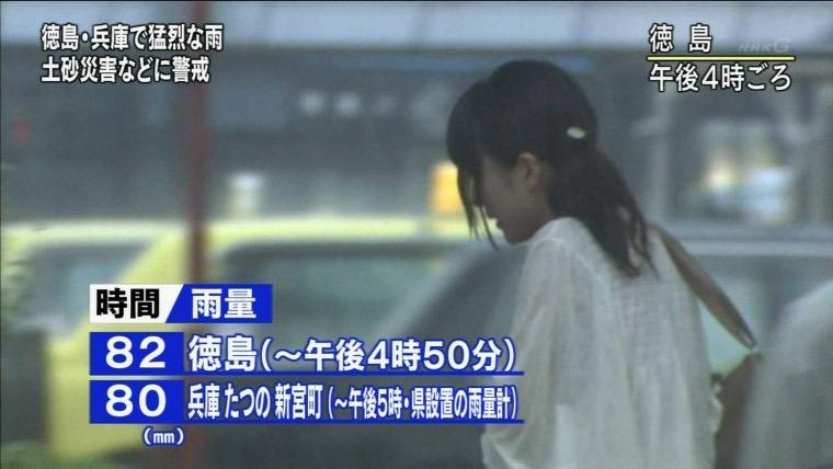 【台風エロ画像】容赦なく襲ってくる強風や豪雨に翻弄される女性達のパンチラ放送事故! 52