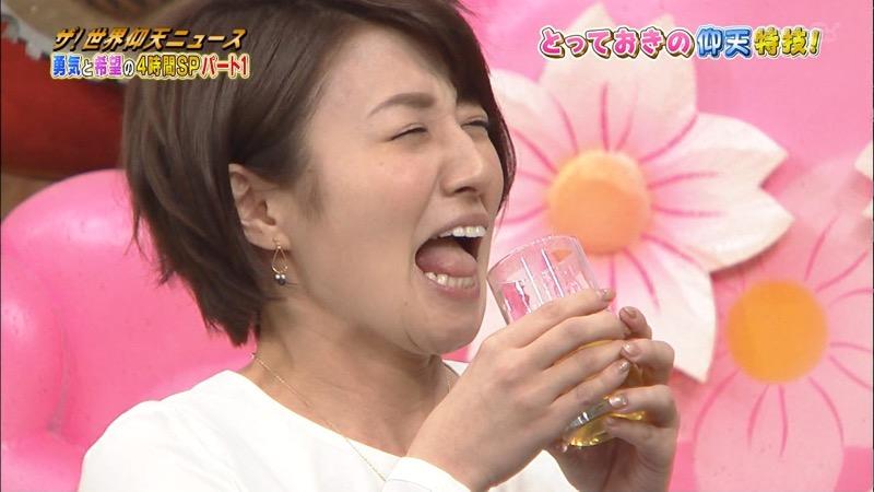 【放送事故画像】日テレ女子アナの久野静香さん太ももを見せたりヤバい表情を画面に晒してしまうwwww 05