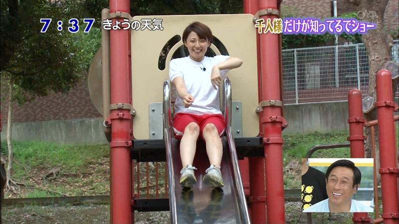 【放送事故画像】日テレ女子アナの久野静香さん太ももを見せたりヤバい表情を画面に晒してしまうwwww 21