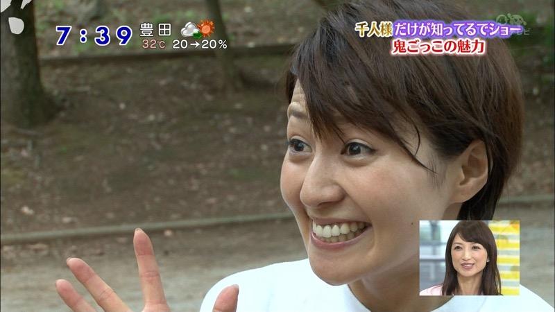 【放送事故画像】日テレ女子アナの久野静香さん太ももを見せたりヤバい表情を画面に晒してしまうwwww 26