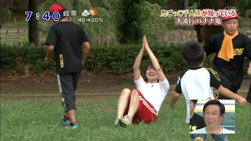 【放送事故画像】日テレ女子アナの久野静香さん太ももを見せたりヤバい表情を画面に晒してしまうwwww 38