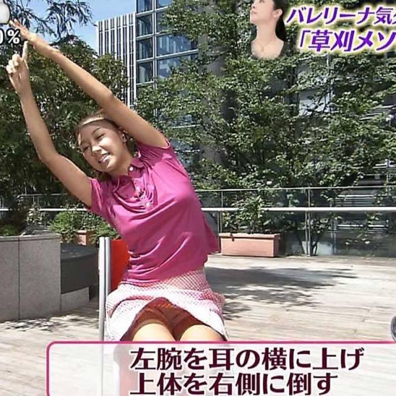 【放送事故画像】テレビ放送中にエッチな部分をカメラを通して全国に晒してしまった女さんwwww 04