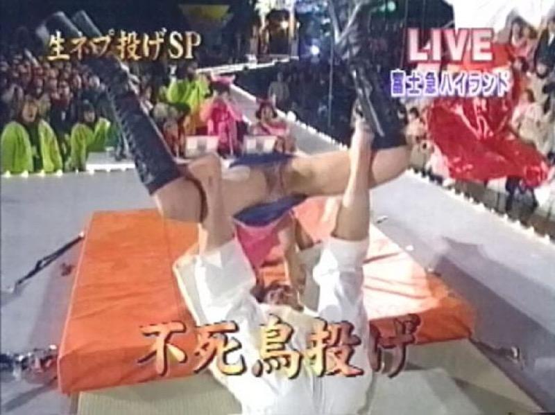 【放送事故画像】テレビ放送中にエッチな部分をカメラを通して全国に晒してしまった女さんwwww 63