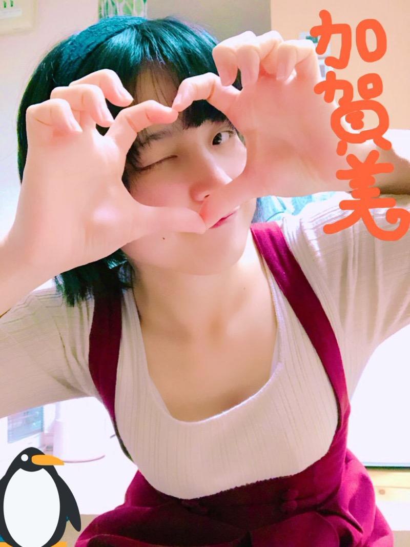【加賀美あみエロ画像】元水泳選手っぽいショートヘアがボーイッシュなEカップ巨乳のグラビアアイドル 39
