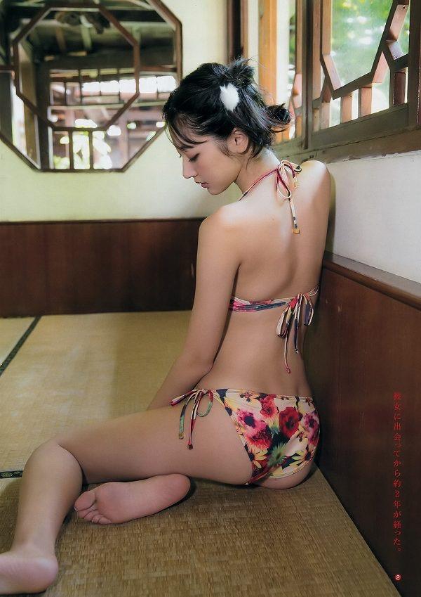【武田玲奈グラビア画像】スレンダーだけどクビレがあるビキニ姿がエッチなショートカット美少女 45