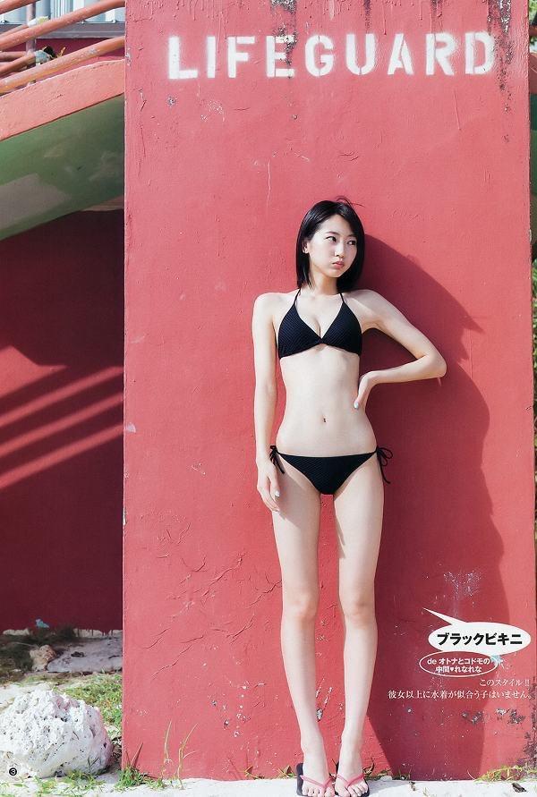 【武田玲奈グラビア画像】スレンダーだけどクビレがあるビキニ姿がエッチなショートカット美少女 56