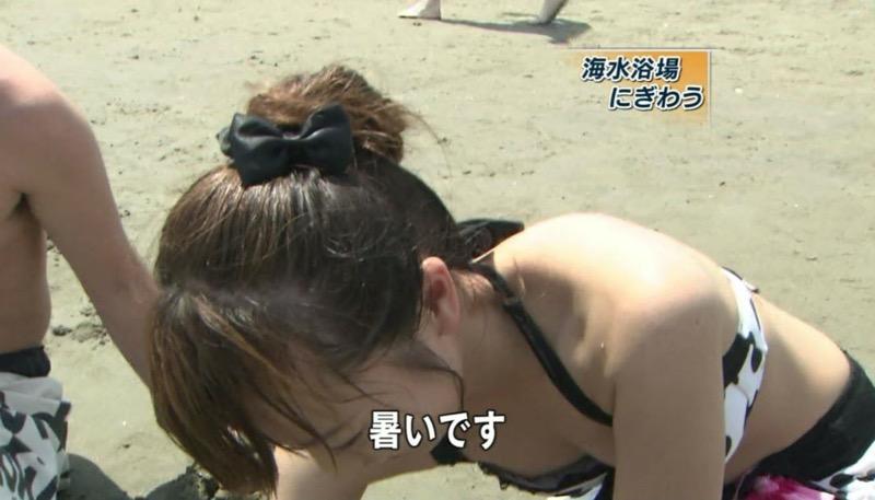 【放送事故画像】テレビタレントがうっかり見せちゃったオッパイやオマンコのチラ見えキャプエロ画像 29