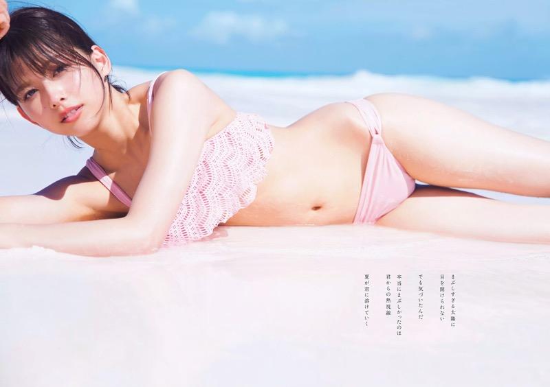【渡邉理佐グラビア画像】可愛さと大人っぽさを合わせ持つ櫻坂46アイドルのセクシーなビキニ姿がエロい 78