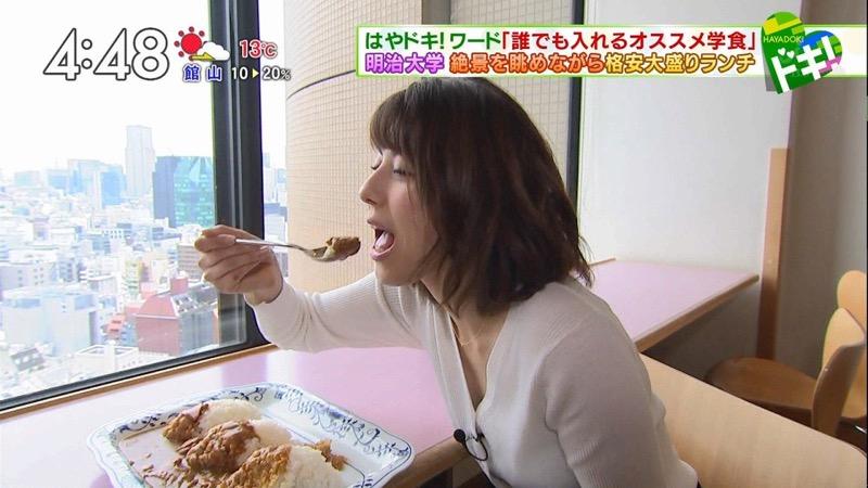 【放送事故フェラ画像】明らかにチンポをしゃぶってる事を妄想しながら食レポしてる女子アナwwww 05