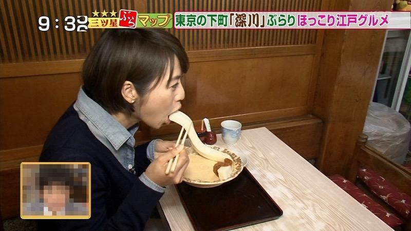 【放送事故フェラ画像】明らかにチンポをしゃぶってる事を妄想しながら食レポしてる女子アナwwww 15