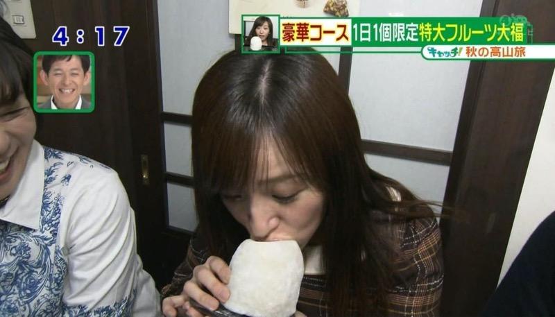 【放送事故フェラ画像】明らかにチンポをしゃぶってる事を妄想しながら食レポしてる女子アナwwww 64