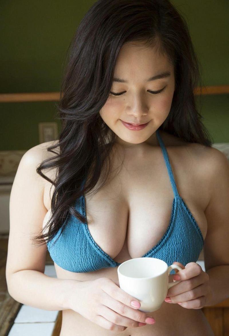 【筧美和子グラビア画像】日本人らしい形のFカップが最高にエロくてパイズリしたくなるメチャシコモデル 03