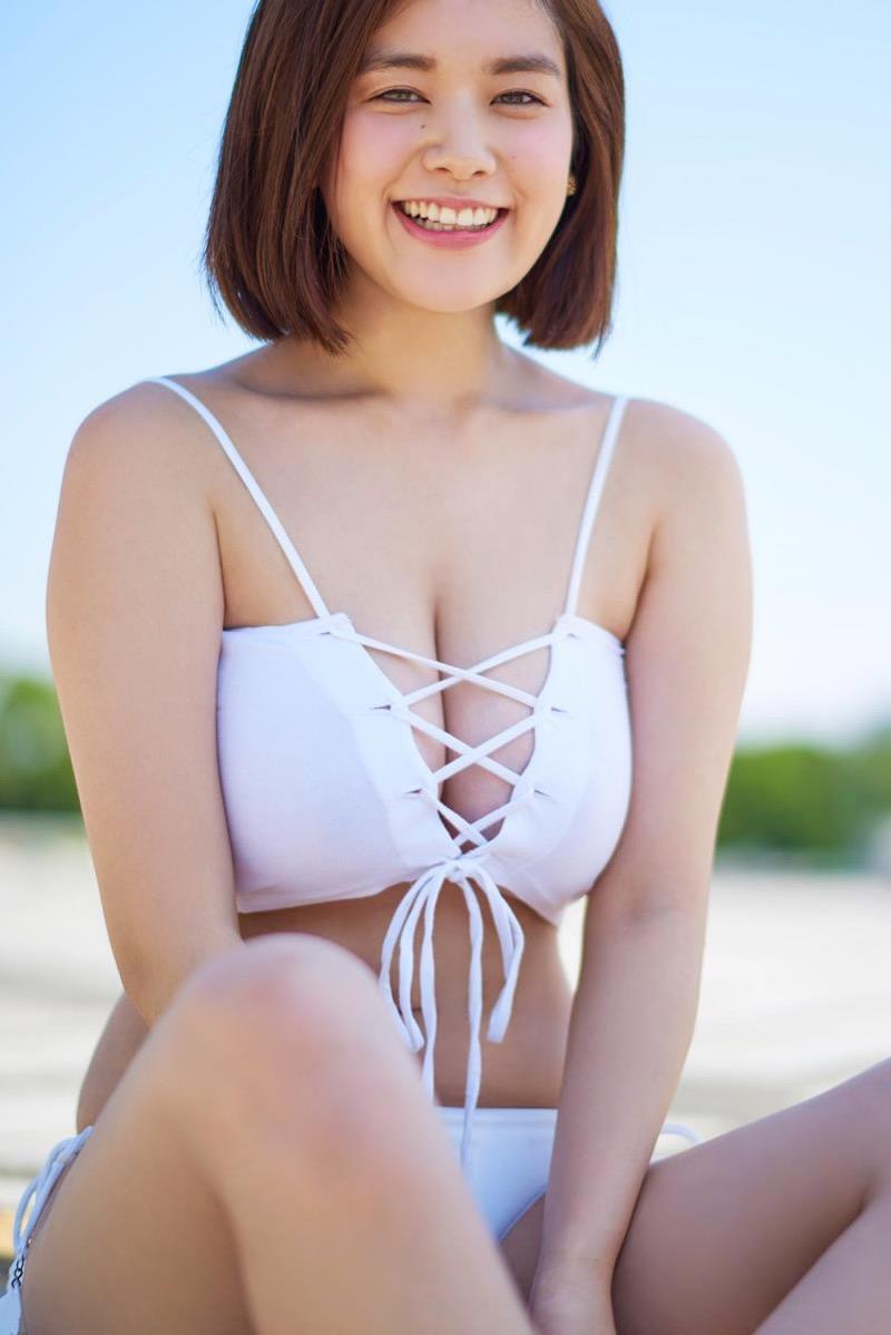 【筧美和子グラビア画像】日本人らしい形のFカップが最高にエロくてパイズリしたくなるメチャシコモデル 08