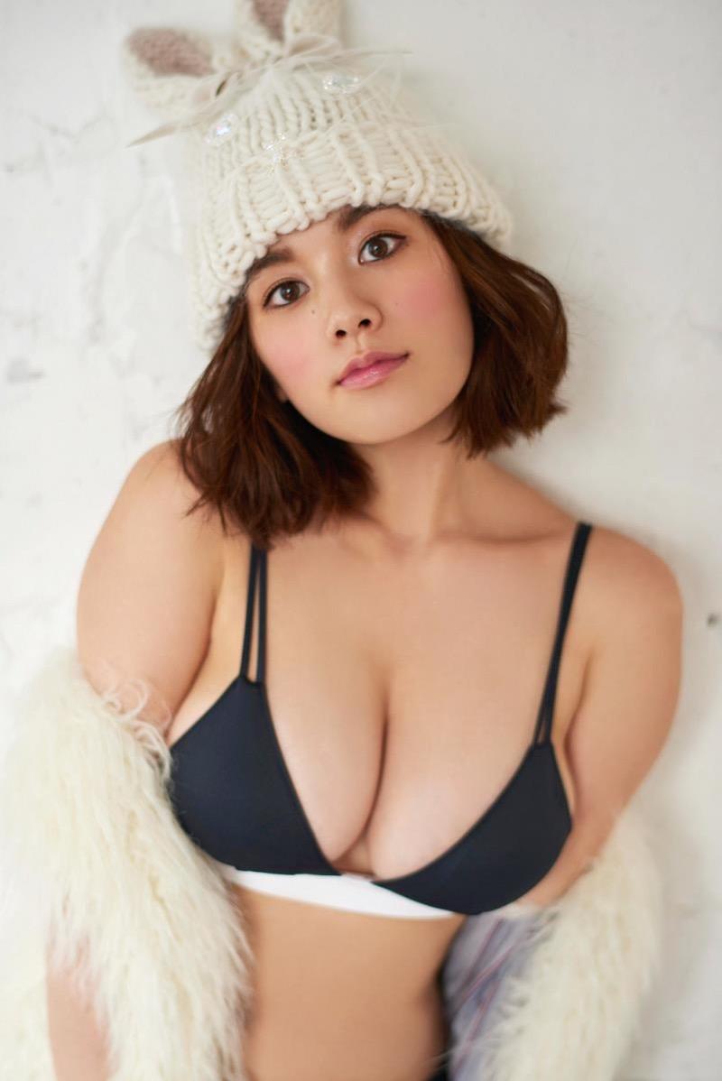 【筧美和子グラビア画像】日本人らしい形のFカップが最高にエロくてパイズリしたくなるメチャシコモデル 10
