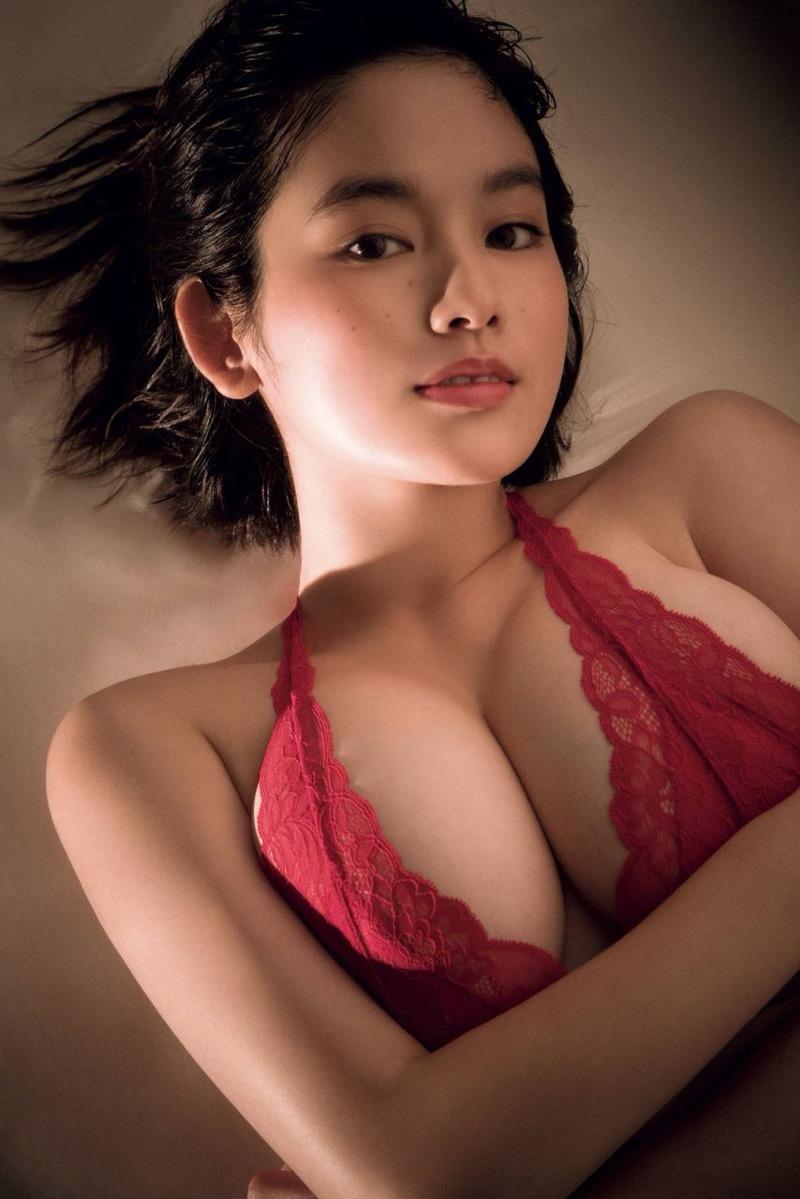 【筧美和子グラビア画像】日本人らしい形のFカップが最高にエロくてパイズリしたくなるメチャシコモデル 46