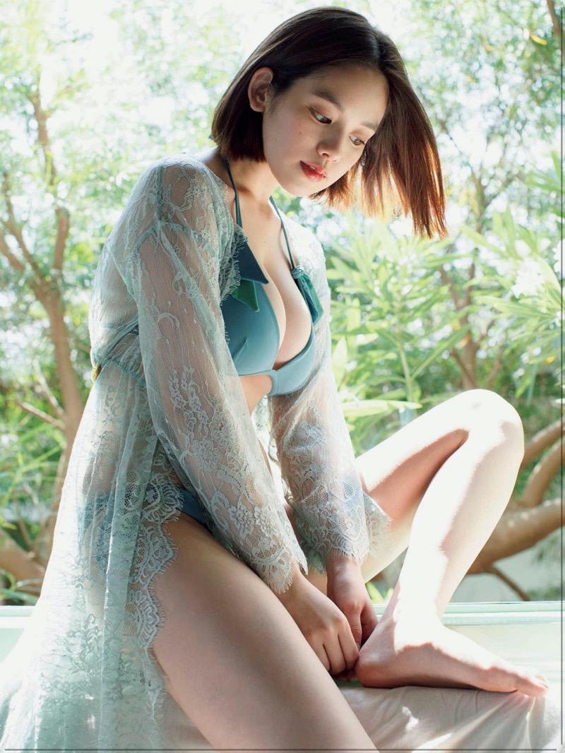 【筧美和子グラビア画像】日本人らしい形のFカップが最高にエロくてパイズリしたくなるメチャシコモデル 57