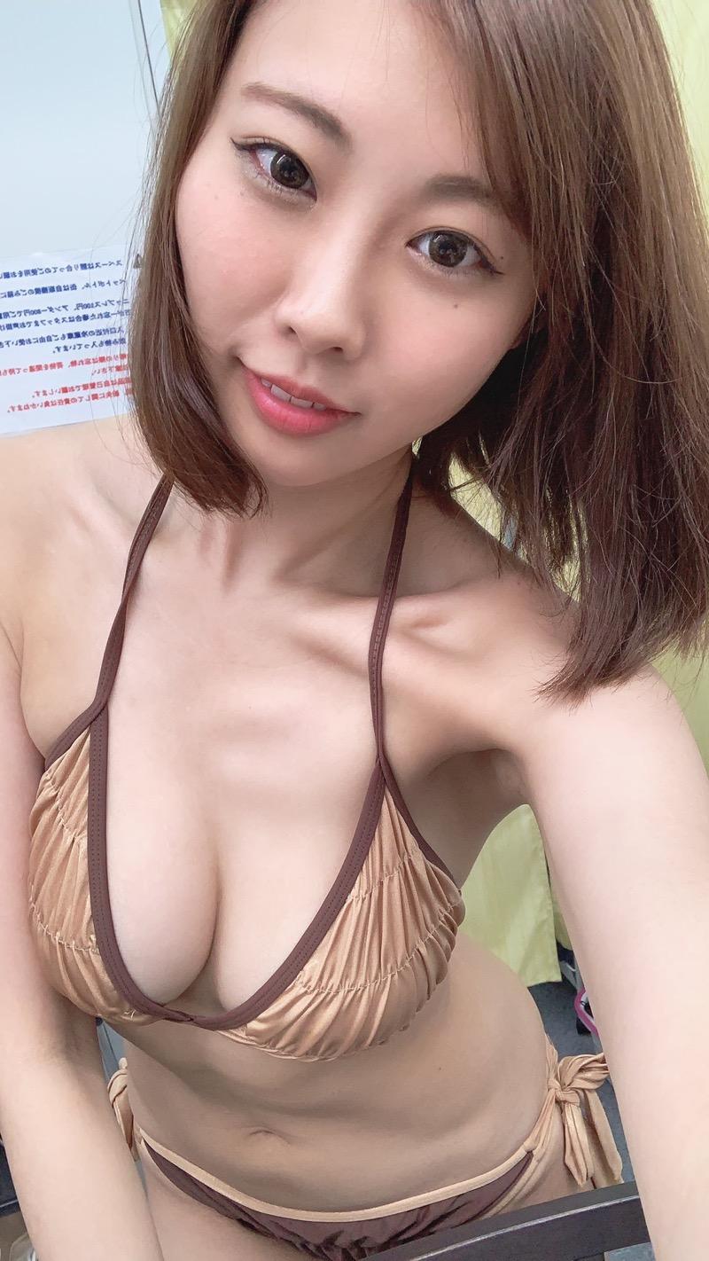 【川島愛里沙エロ画像】ビキニの紐が重みで切れてオッパイポロリしてしまいそうなたわわなGカップ巨乳 36