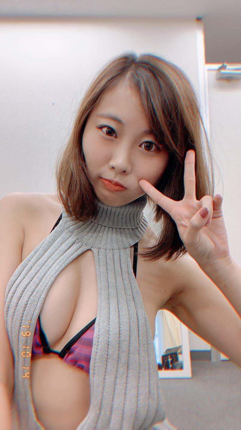 【川島愛里沙エロ画像】ビキニの紐が重みで切れてオッパイポロリしてしまいそうなたわわなGカップ巨乳 49