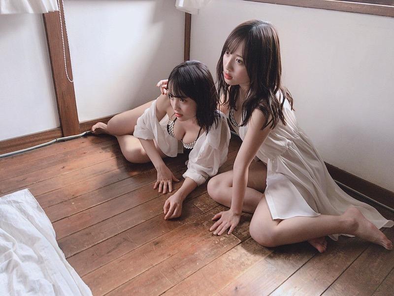 【じゅりえりエロ画像】近ごろ奇跡の日中ハーフ美人双子と話題のタレントが本当に可愛いか調べてみたw