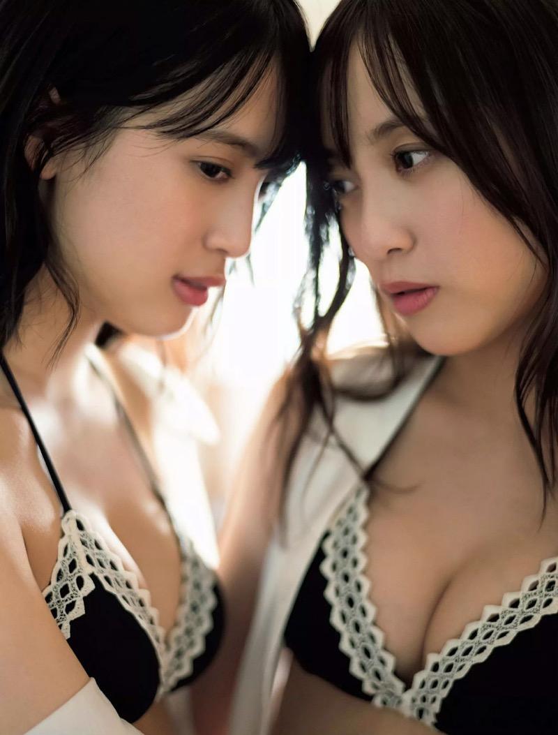 【じゅりえりエロ画像】近ごろ奇跡の日中ハーフ美人双子と話題のタレントが本当に可愛いか調べてみたw 16