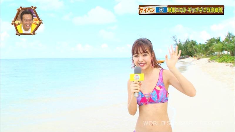 【藤田ニコルキャプ画像】可愛らしいファッションモデルにこるんのちょっとエッチなテレビ出演シーンw 53