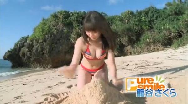 【籠谷さくらキャプ画像】美少女コンテスト出身の童顔美少女が秘境探検からの温泉入浴とか芸人扱いだなw 57