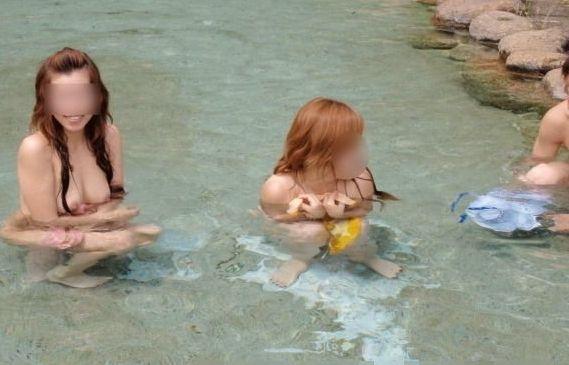 【混浴温泉エロ画像】寒くなると温泉行きたくなるけどどうせなら女連れで熱くなりたいわw 13