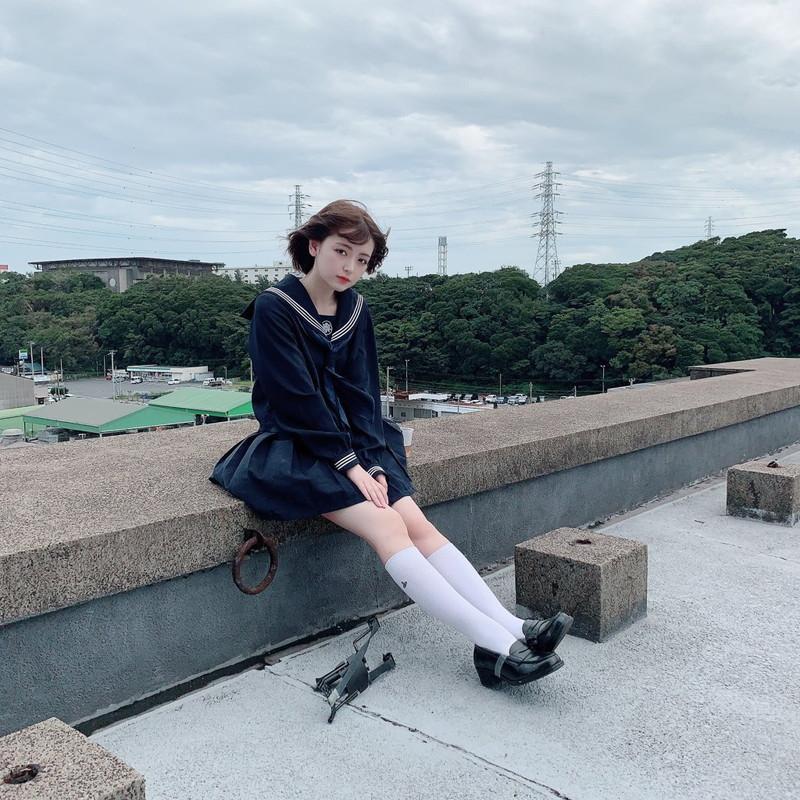 【木村葉月エロ画像】女子高生制服が似合っていてめちゃくちゃ可愛いボブヘアー美少女 03