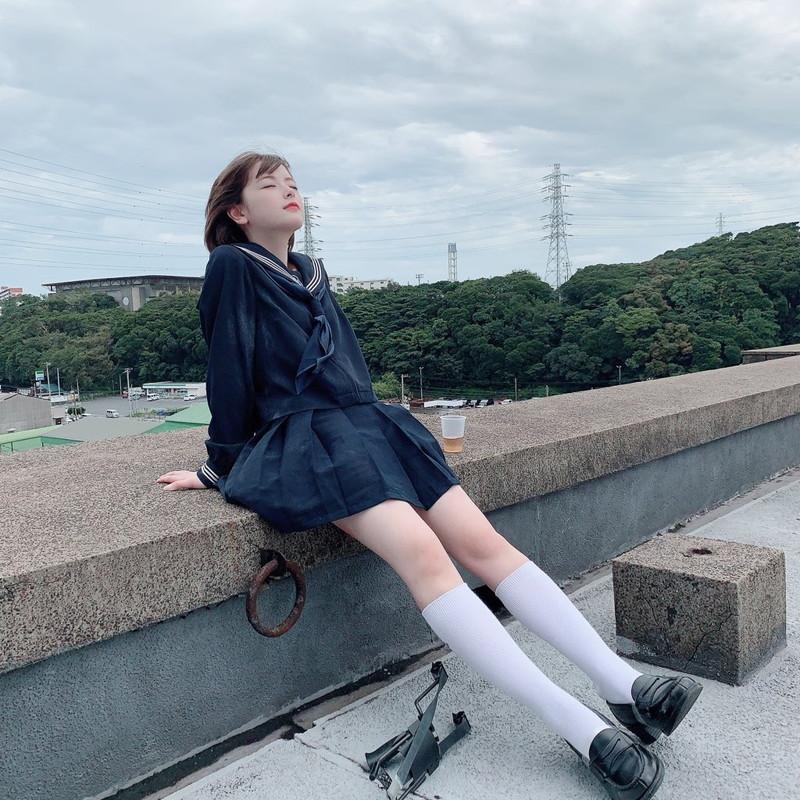 【木村葉月エロ画像】女子高生制服が似合っていてめちゃくちゃ可愛いボブヘアー美少女 04