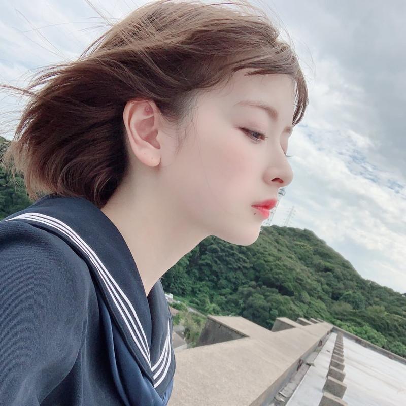 【木村葉月エロ画像】女子高生制服が似合っていてめちゃくちゃ可愛いボブヘアー美少女 06