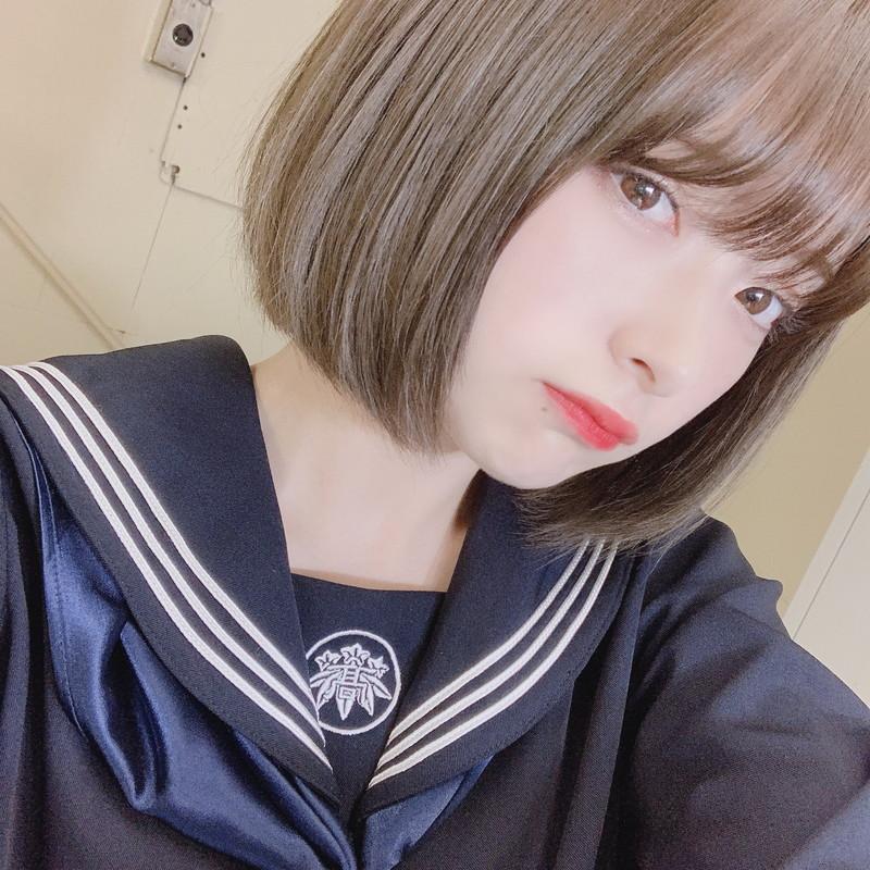 【木村葉月エロ画像】女子高生制服が似合っていてめちゃくちゃ可愛いボブヘアー美少女 08