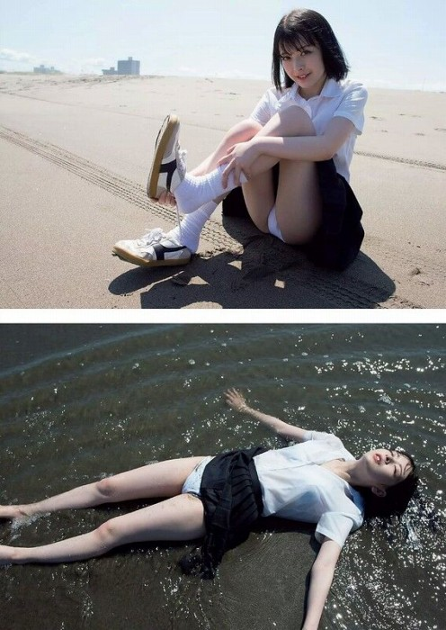 【木村葉月エロ画像】女子高生制服が似合っていてめちゃくちゃ可愛いボブヘアー美少女 20