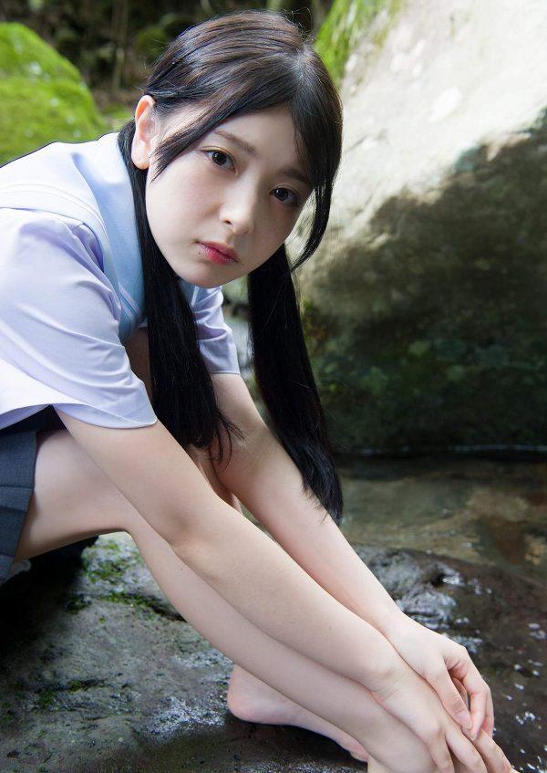 【木村葉月エロ画像】女子高生制服が似合っていてめちゃくちゃ可愛いボブヘアー美少女 30