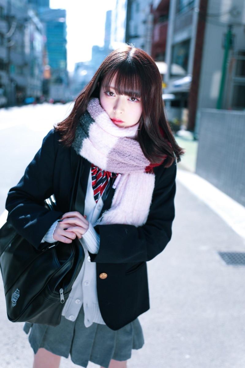 【木村葉月エロ画像】女子高生制服が似合っていてめちゃくちゃ可愛いボブヘアー美少女 46