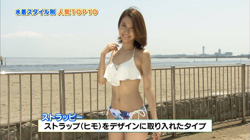 【戸田れいキャプ画像】アラサーなのにプリプリのケツがエロすぎる戸田れいの水着姿www 08