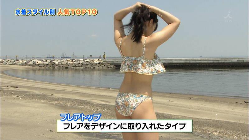 【戸田れいキャプ画像】アラサーなのにプリプリのケツがエロすぎる戸田れいの水着姿www 14