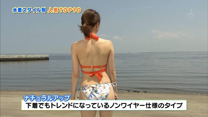【戸田れいキャプ画像】アラサーなのにプリプリのケツがエロすぎる戸田れいの水着姿www 18
