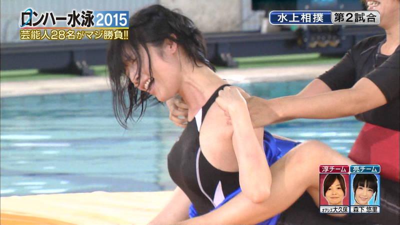 【森下悠里キャプ画像】よくある水泳大会ものの番組で森下悠里がおっぱい揉まれたと聞いてwww 21