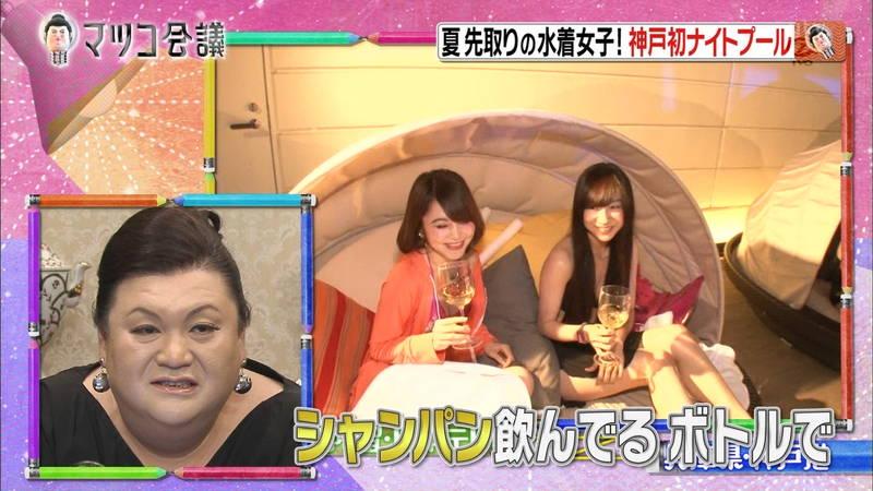 【ナイトプールキャプ画像】神戸にあるナイトプールには大胆水着の素人が大勢いるらしいwww 11