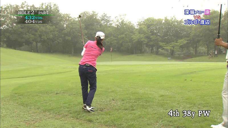【原史奈キャプ画像】グラドルやめて着衣でゴルフしてても巨乳が目立つ原史奈ってwww 09