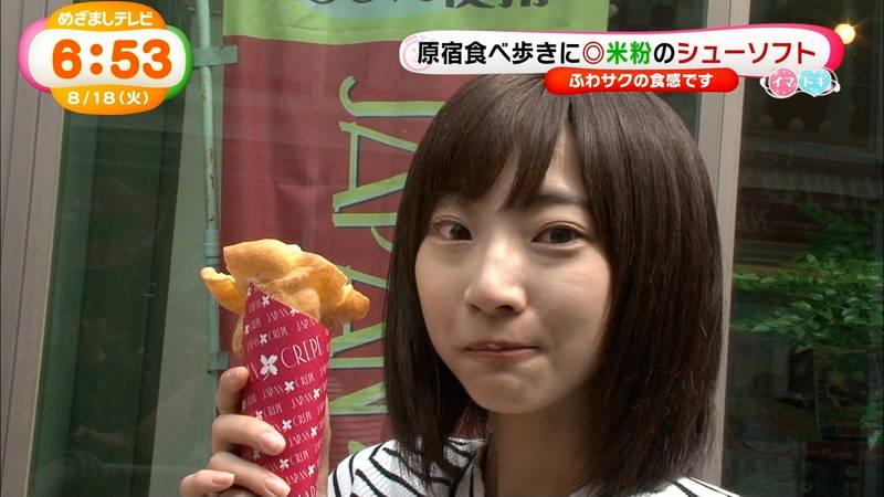 【武田玲奈キャプ画像】ソフトクリームの食レポしている武田玲奈のおっぱいの成長具合www 19