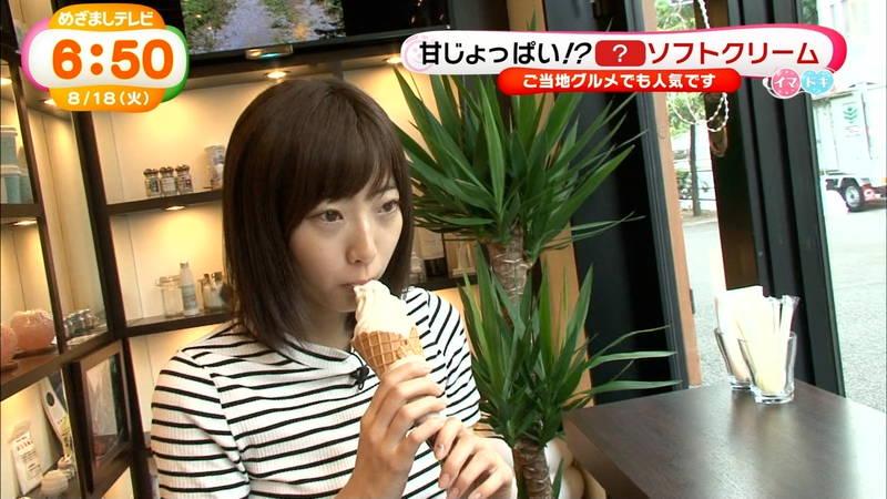 【武田玲奈キャプ画像】ソフトクリームの食レポしている武田玲奈のおっぱいの成長具合www 29