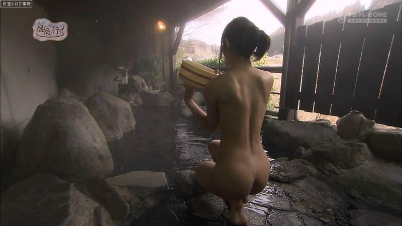 【柚木しおりキャプ画像】完全な全裸で入浴する柚木しおりがイメージビデオにしか見えないwww 06