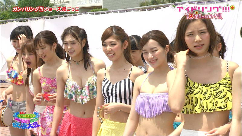 【大川藍キャプ画像】アイドリングの水泳大会で一番目立ってた大川藍の巨乳www 03