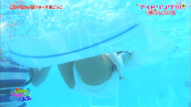 【大川藍キャプ画像】アイドリングの水泳大会で一番目立ってた大川藍の巨乳www 09